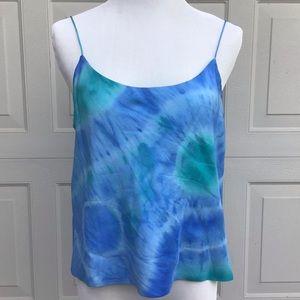 Lauren Ralph Lauren Silk Tie Dye Tank Top - 1990s